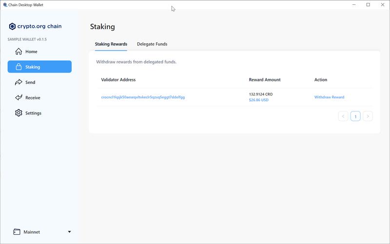 Go to Staking > Staking Rewards