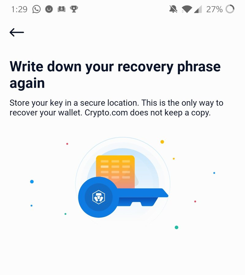 Obtain your 12 words passphrase from your Mobile Defi Wallet App
