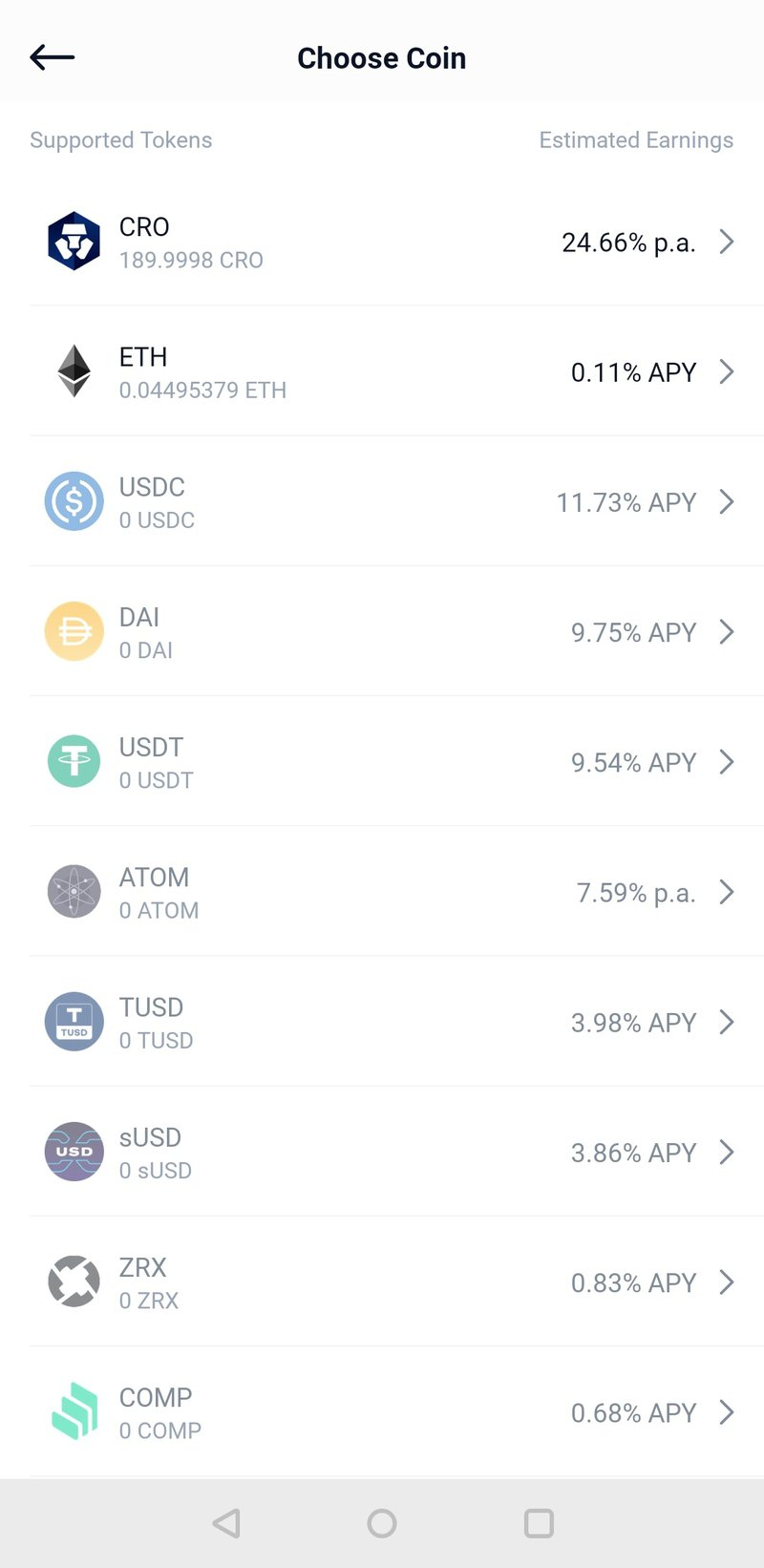 Staking in the mobile defi wallet